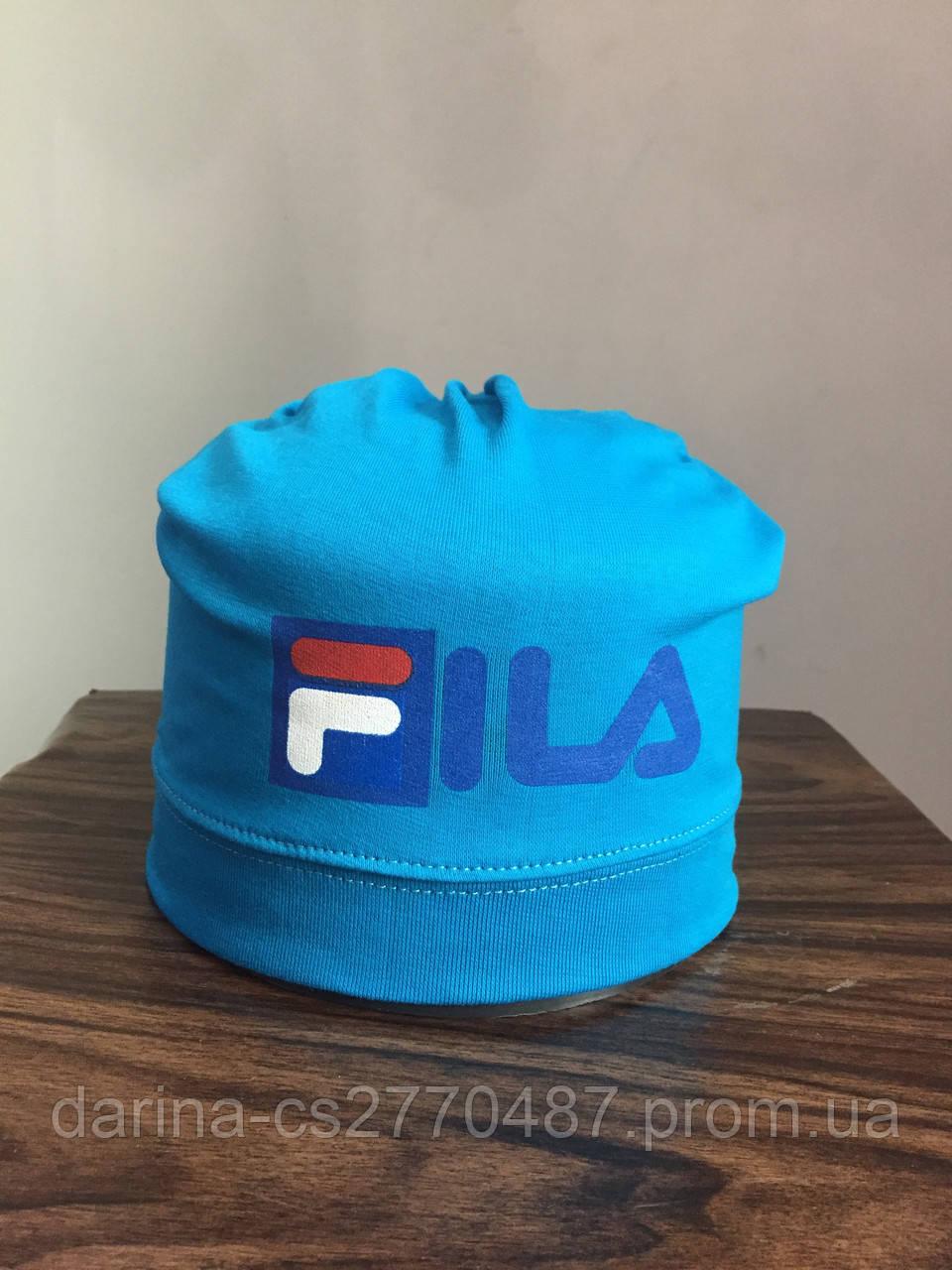 Трикотажная шапка с принтом для мальчика