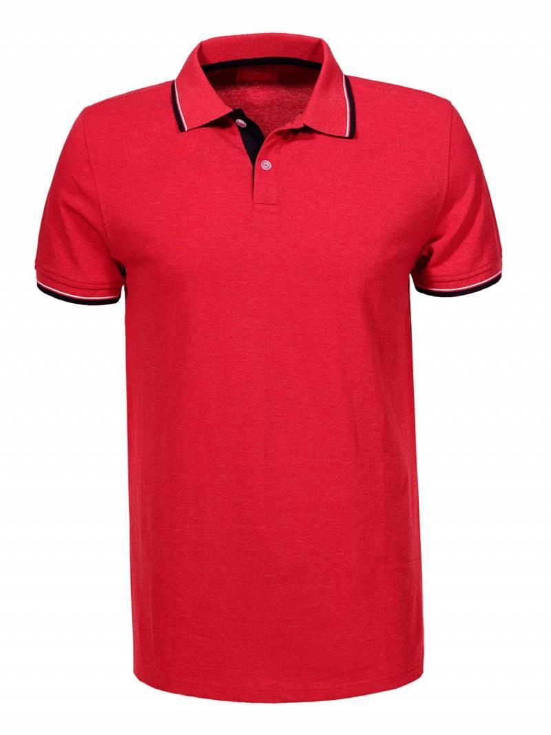 Мужская красная футболка поло