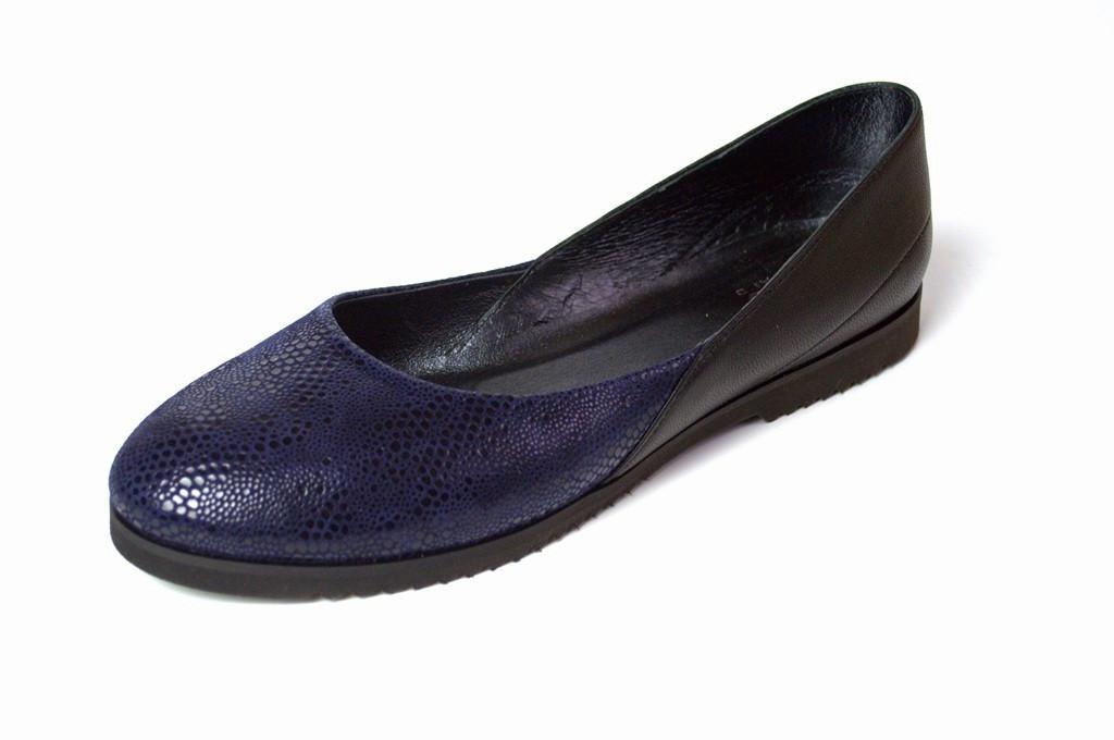 Большой размер балетки женские кожаные Scara U Violet Leather by Rosso Avangard BS фиолетовые