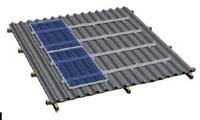 Комплект креплений на черепичную скатную крышу (12 панелей)