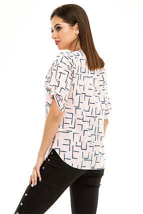 Блузка 286 розовая, фото 2