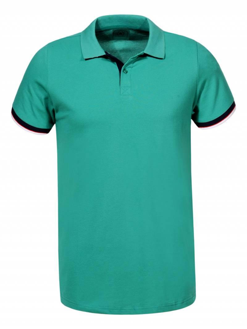 Чоловіча зелена футболка поло