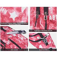 Стильный Рюкзак-слинг городской на одно плечо женский розовый, фото 3