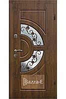 Дверь входная наружная с ковкой и стеклом АРМА 304. Входные двери для частного дома