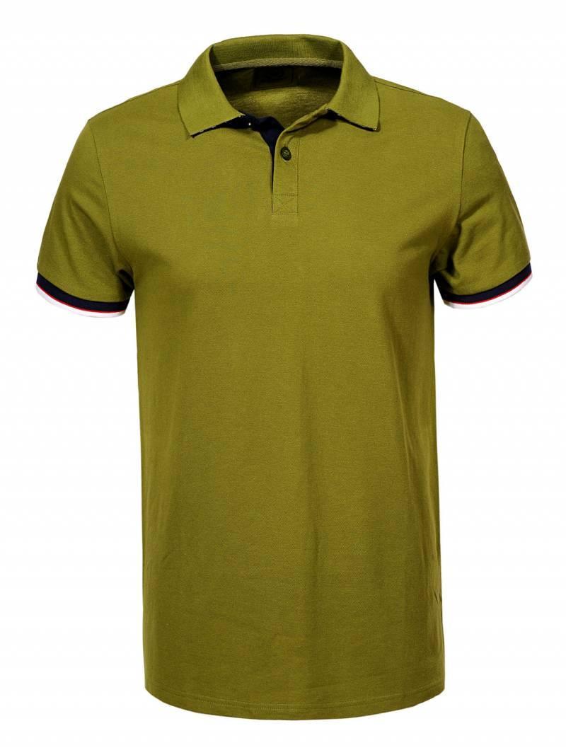 Мужская оливковая футболка поло