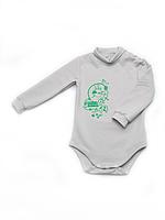 Боди для новорожденного утеплённый (серый)