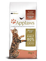 Applaws Апплавс  ADULT CAT CHICKEN WITH EXTRA SALMON  КОРМ ДЛЯ ВЗРОСЛЫХ КОШЕК С КУРИЦЕЙ И ЛОСОСЕМ 7,5 кг