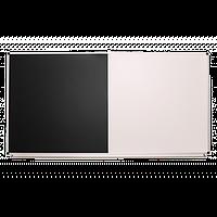 Доска одноповерхностная комбинированная черно-белая, фото 1
