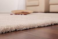 Ковер кремового цвета, велюровый ковер, пушистые коврики, мягкие ковры, фото 1