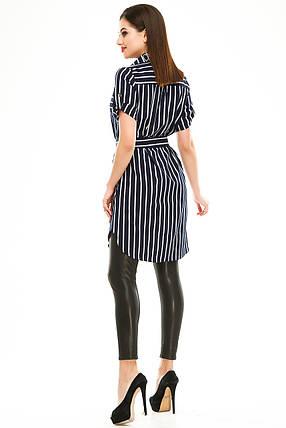 Платье- рубашка 285 синяя полоска, фото 2