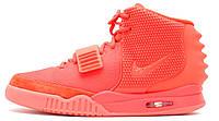 Мужские кроссовки Nike Air Yeezy 2 SP Red October (найк аир изи 2, красные)