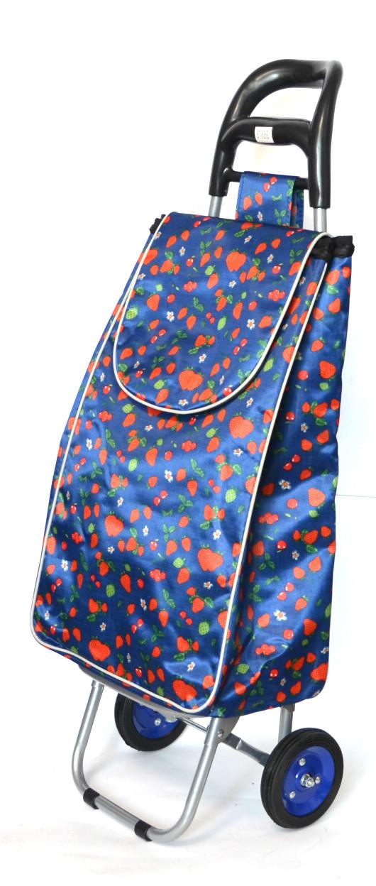 Хозяйственная сумка тележка Xiamen с колесами на подшипниках Blue strawberry (0059)