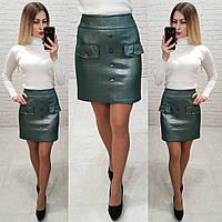 Замшевая короткая юбка , фото 1