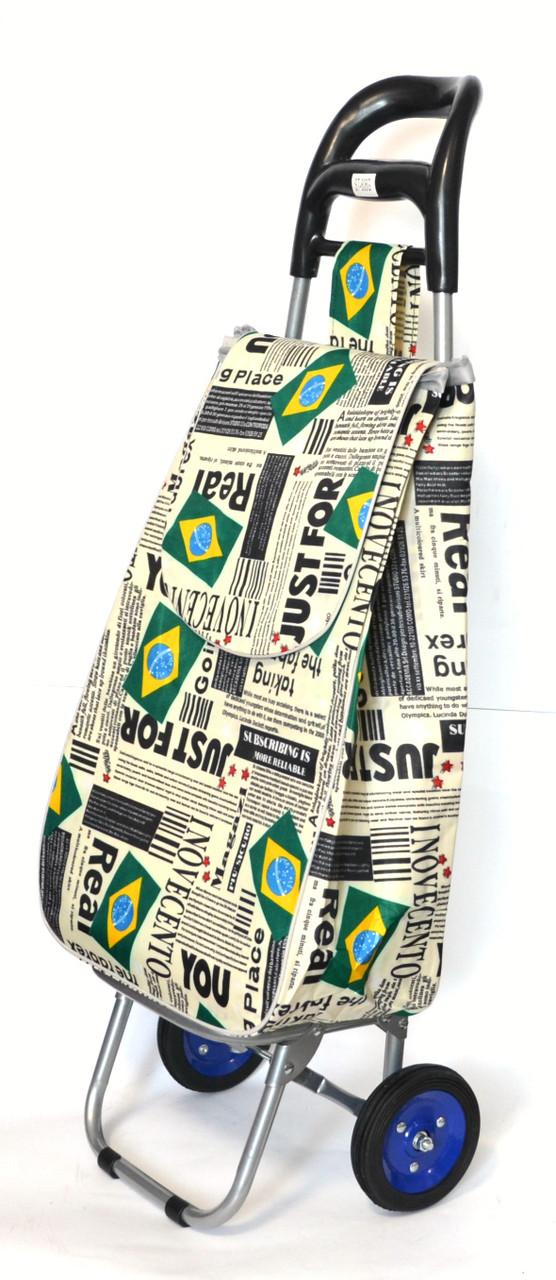 Хозяйственная сумка тележка Xiamen с колесами на подшипниках Brazil flag (0061)