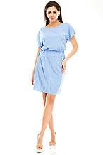 Платье 288 голубая полоска