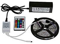 Светодиодная лента SMD 5050 300 LED RGB 5м с пультом и блоком питания