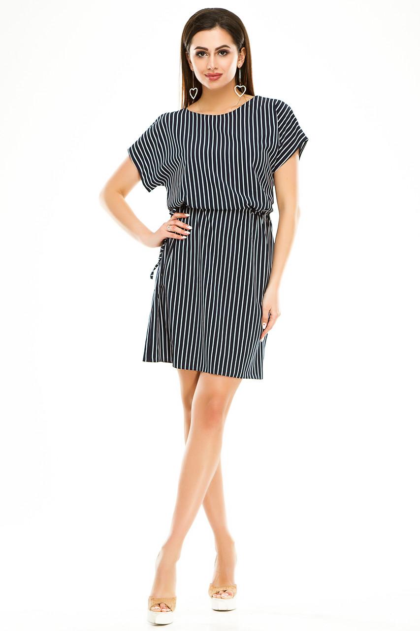 Платье 288 темно-синяя полоска размер 42-44
