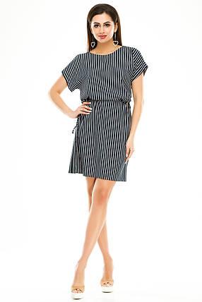 Платье 288 темно-синяя полоска размер 42-44, фото 2