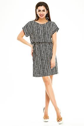 Платье 288 черная полоска с бежевым, фото 2