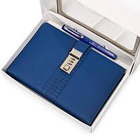 Ежедневник органайзер блокнот с кодовым замком Синий (AR004)