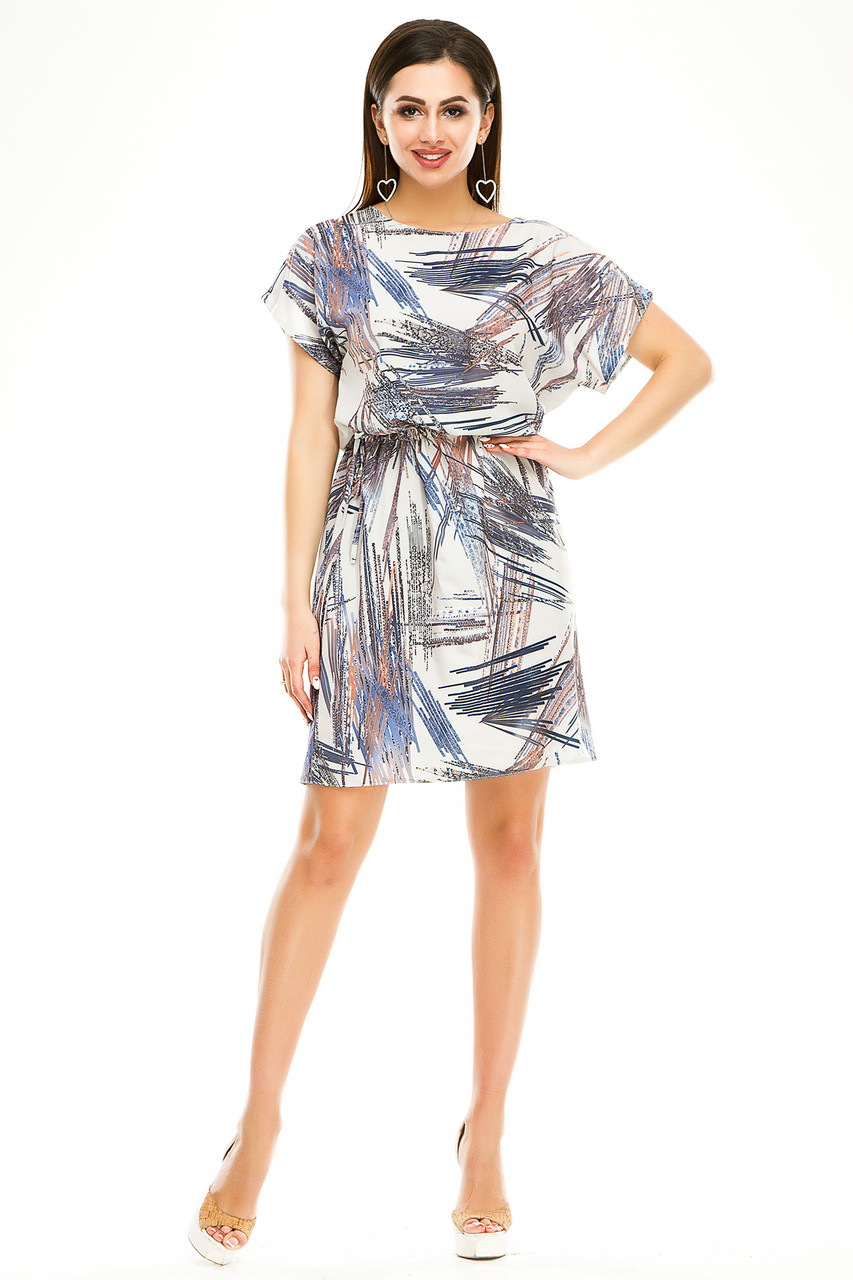 Платье 288 серый узор
