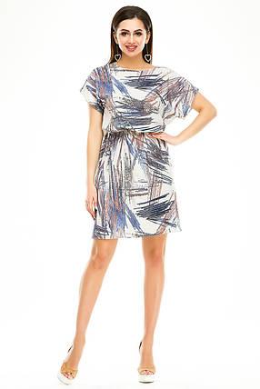 Платье 288 серый узор 46-48, фото 2