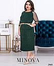 Платье Минова 423 р 54-64 зеленый, фото 2