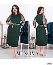 Платье Минова 423 р 54-64 зеленый, фото 4