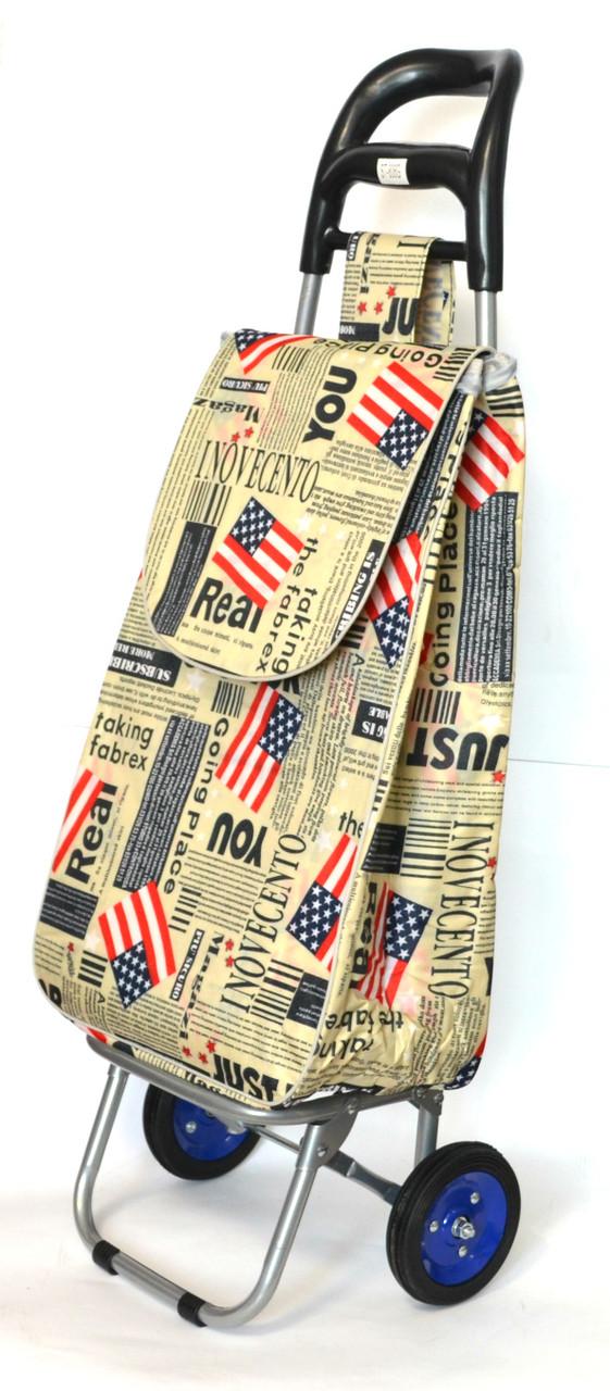 Хозяйственная сумка тележка Xiamen с колесами на подшипниках American flag (0063)