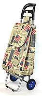 Хозяйственная сумка тележка Xiamen с колесами на подшипниках American flag (0063), фото 1