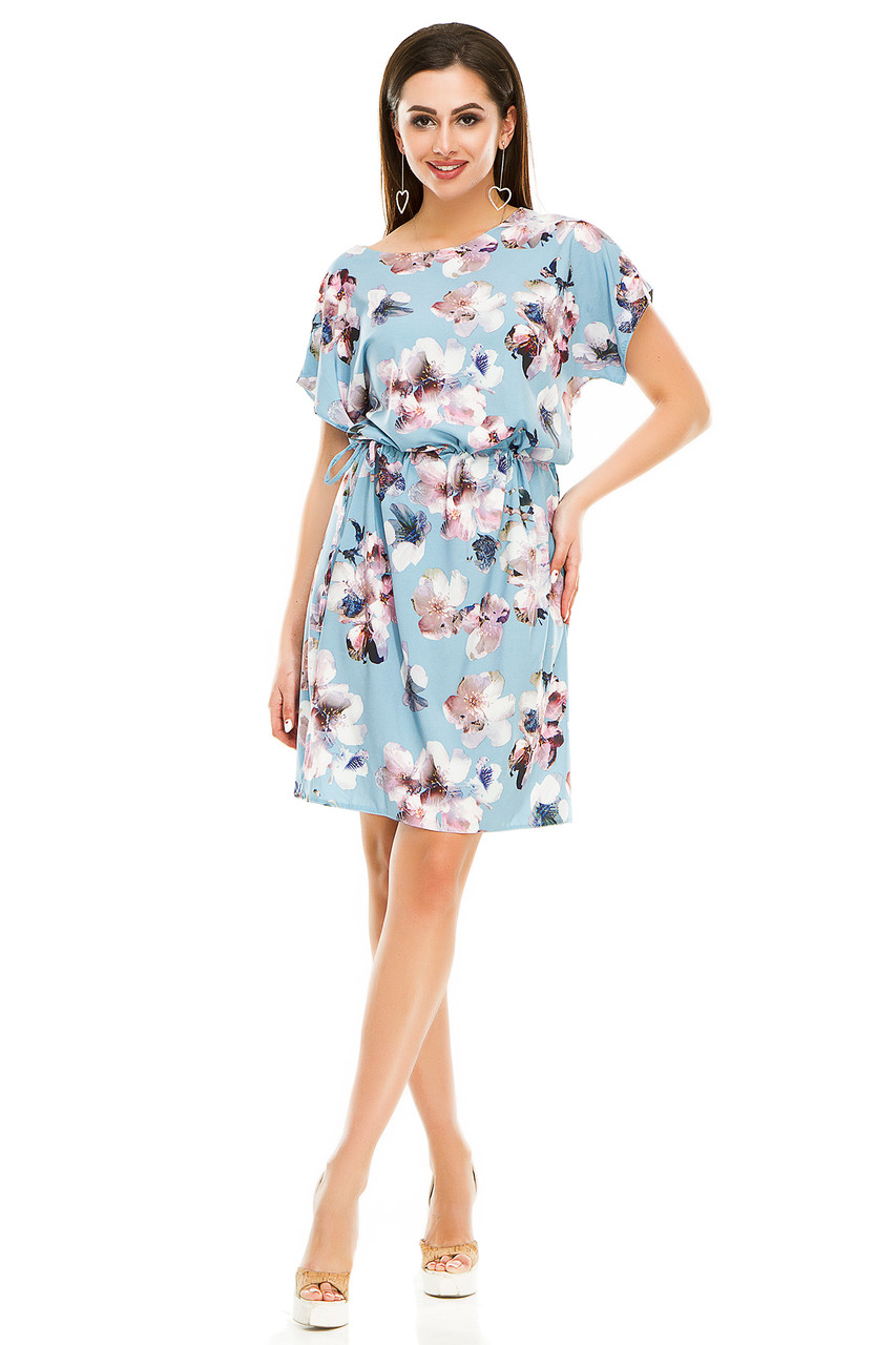 Платье 288 голубое