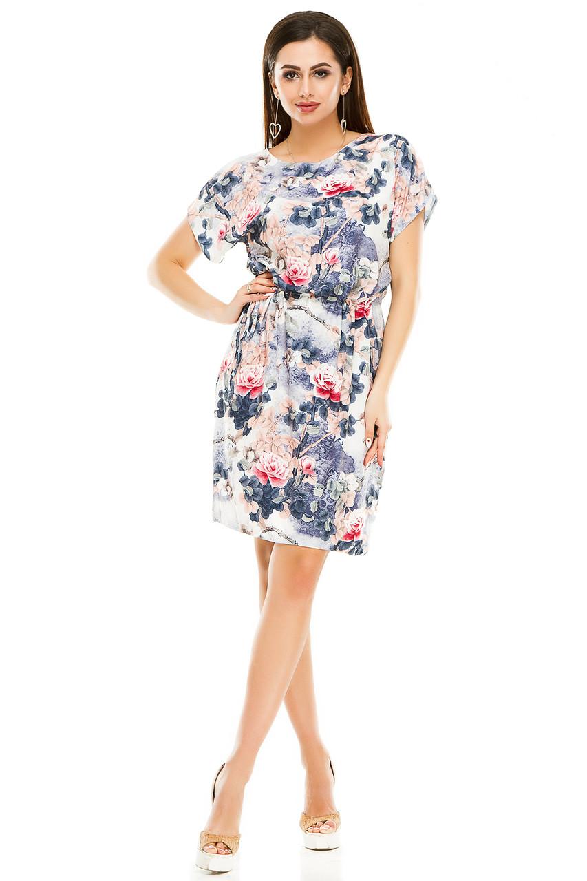 Платье 288 роза синяя