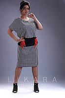 Платье большого размера Likara / стрейч - котон / Украина 32-816, фото 1