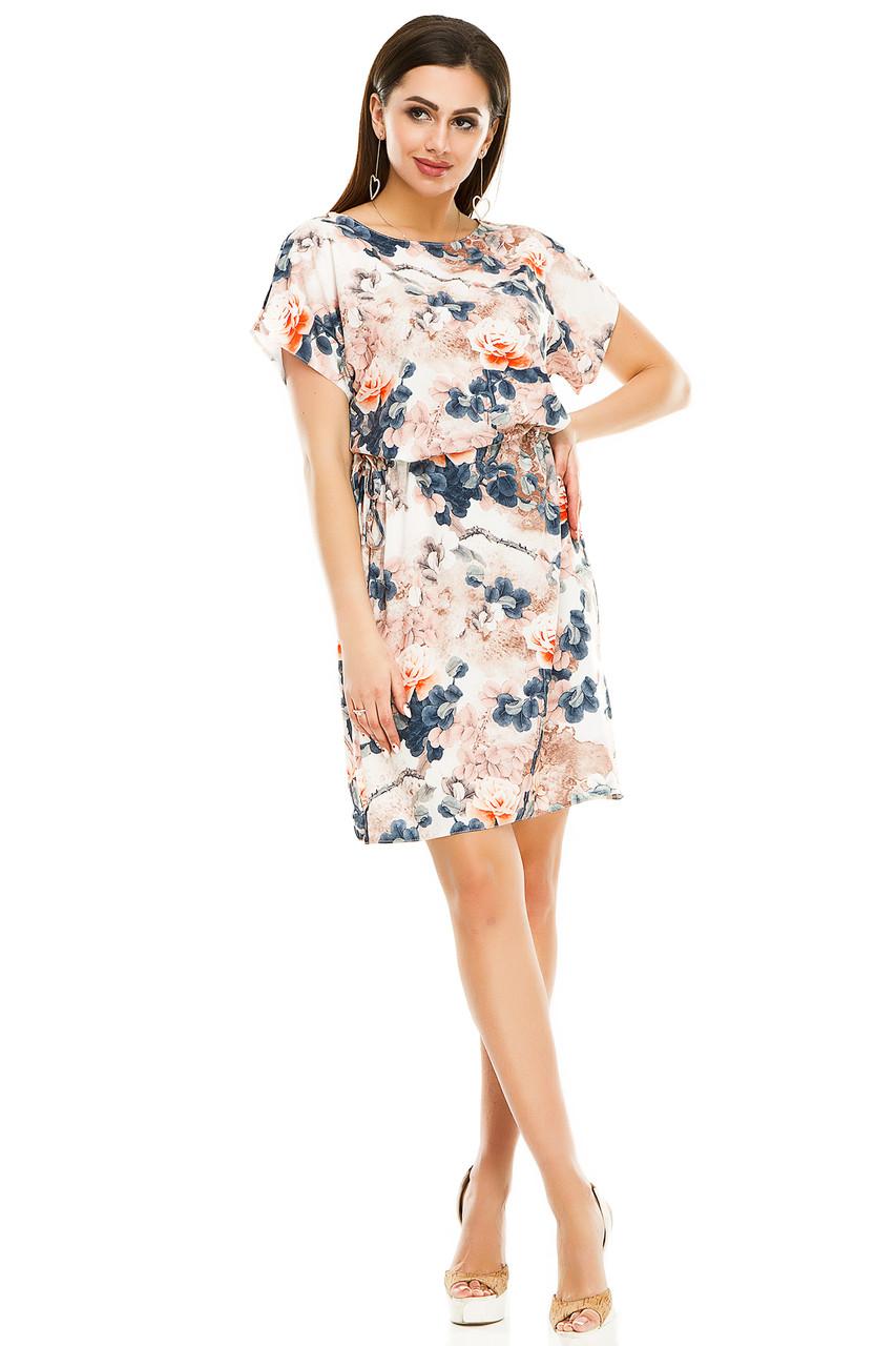 Платье 288  бежевая роза