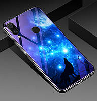 Чехол Glass-case для Huawei P Smart Plus / Nova 3i / INE-LX1 бампер накладка Wolf
