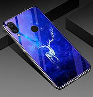 Чехол Glass-case для Huawei P Smart Plus / Nova 3i / INE-LX1 бампер накладка Deer