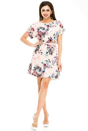 Платье 289  розовое, фото 2
