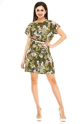 Платье 289  оливка, фото 2