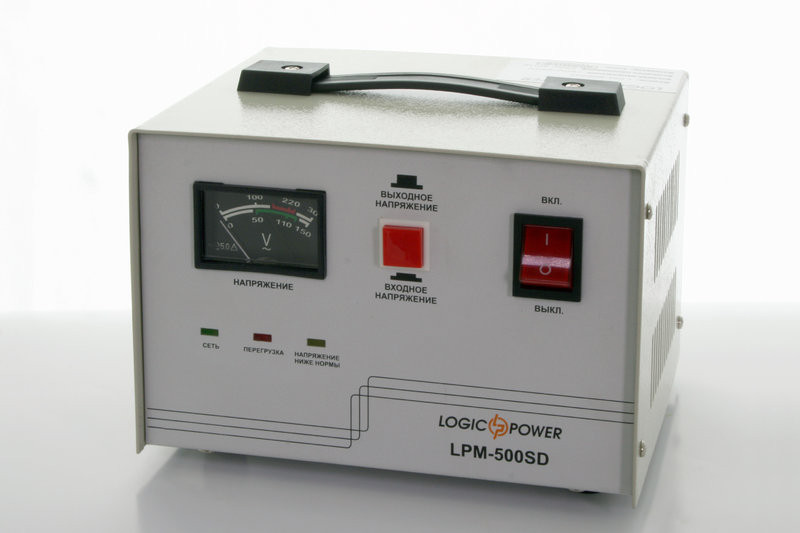 Стабилизатор напряжения сервоприводный LogicPower LPМ-500SD (400Вт)