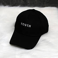 Кепка черная Youth логотип вышивка, фото 1