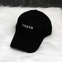 Кепка чёрная Youth логотип вышивка , фото 1