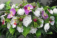 Свадебная экибана на авто с цветами - (прокат, продажа, цена)
