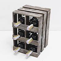 Ящик Модульный Вертикальный на 6 бутылок для вина., фото 1