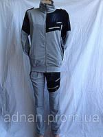 Мужской спортивный костюм 4 цвета джинсовыми вставками 003/ купить скпортивный костюм
