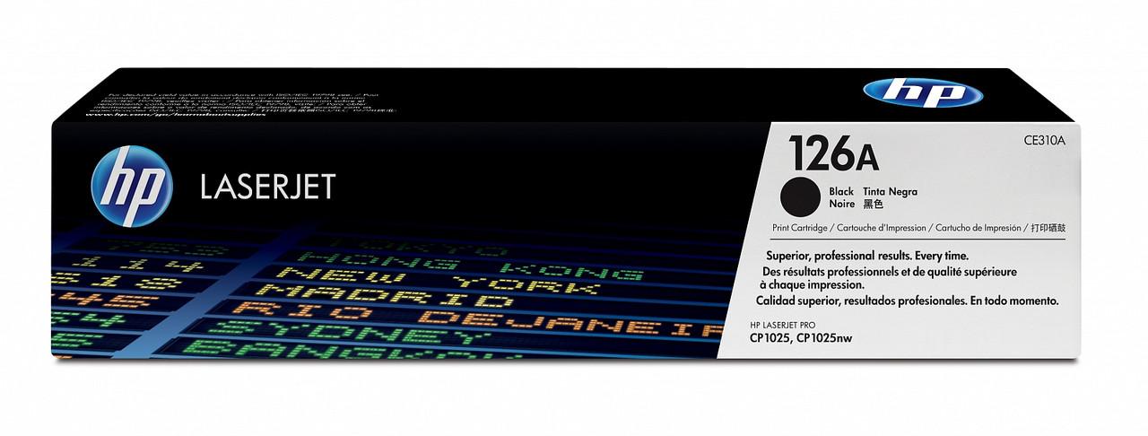 Заправка картриджа HP CE310A (126А) черный