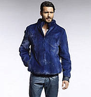 Куртка из меха норки, цвет электрик