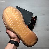 Кроссовки мужские черные с оранжевыми полосками Adidas топ-реплика, фото 3