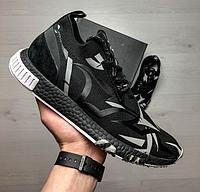 Мужские весенние кроссовки черно-серого цвета