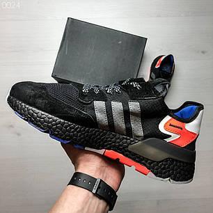 Мужские кроссовки черные с оранжевым Adidas топ реплика, фото 2