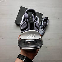 Мужские кроссовки светло-серые радужные на подошве с воздушными вставками, фото 3